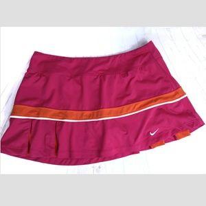 Nike Dri-Fit Skort Skirt Athletic Pink Orange Sz M
